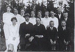 Enon rippikoulussa Karkussa 1928